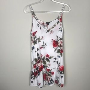 J for Justify White Red Roses Floral Dress